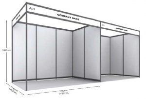Two 3x2 booths