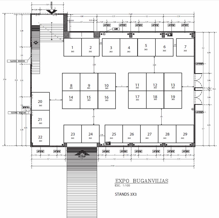 Expo Buganvilias floor plan