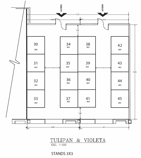 Tulipan Violeta trade show booths floor plan