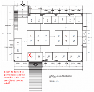 Floor plan Exhibition hall