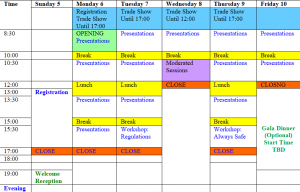 Schedule for week