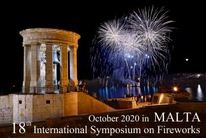 18th International Symposium on Fireworks, October 2020 in Malta