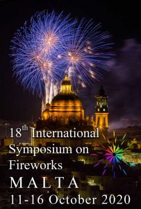 18th International Symposium on Fireworks, Malta, October 2020